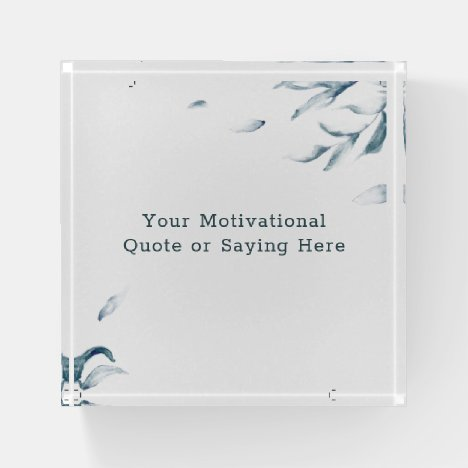 Create Your Own Inspirational Quote Watercolor Paperweight