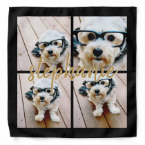 Create Your Own Instagram 4 Photo Collage Bandana