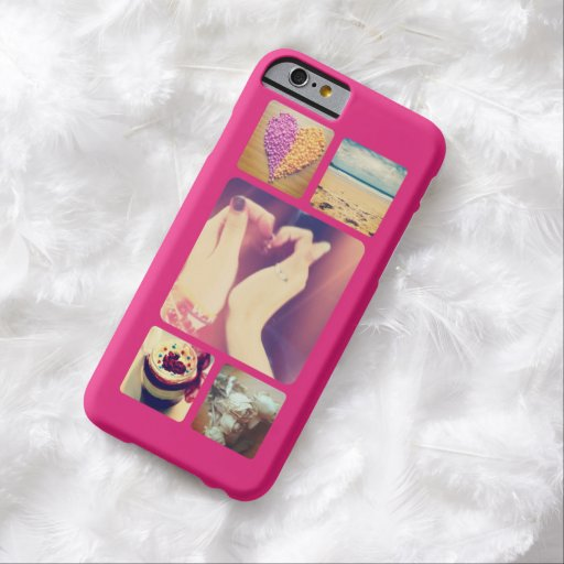 Create your own instagram 5 photo barely there iphone 6 for How to customize your iphone case