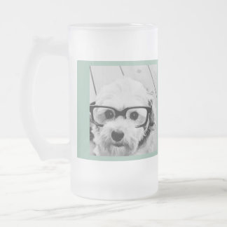 Create Your Own Instagram Art Frosted Glass Beer Mug