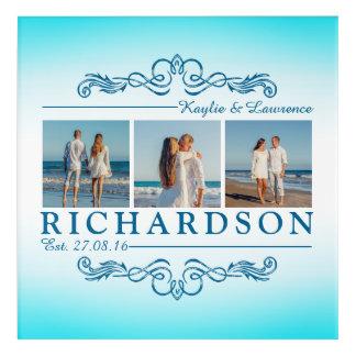 Create Your Own Instagram Beach Wedding Monogram Acrylic Print