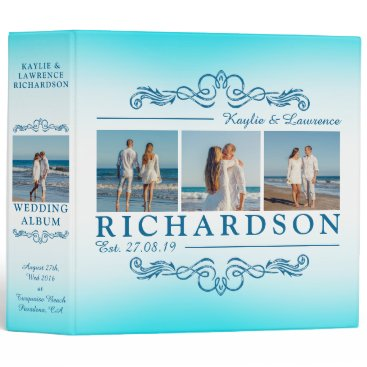 Beach Themed Create Your Own Instagram Beach Wedding Monogram Binder