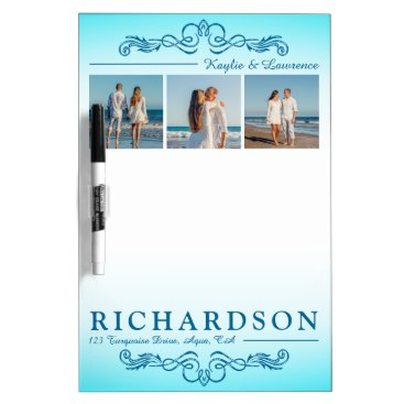 Beach Themed Create Your Own Instagram Beach Wedding Monogram Dry-Erase Board