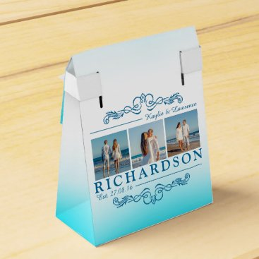 Beach Themed Create Your Own Instagram Beach Wedding Monogram Favor Box