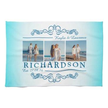 Beach Themed Create Your Own Instagram Beach Wedding Monogram Hand Towel