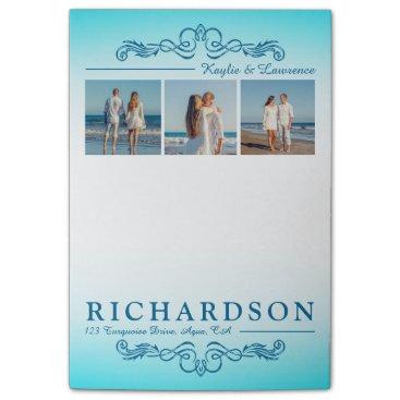Beach Themed Create Your Own Instagram Beach Wedding Monogram Post-it® Notes