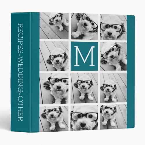 Create Your Own Instagram Collage Custom Monogram Binder