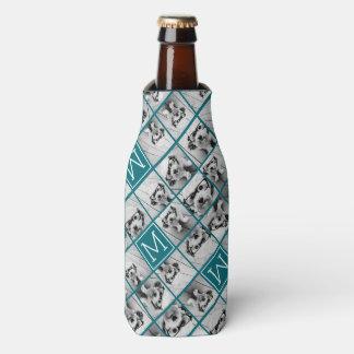 Create Your Own Instagram Collage Custom Monogram Bottle Cooler