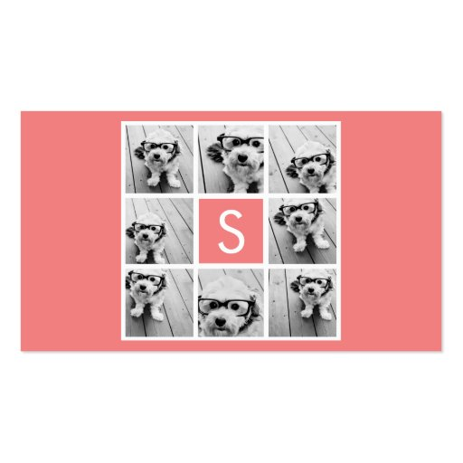 Create Your Own Instagram Collage Custom Monogram Business Card