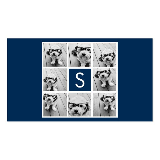 Create Your Own Instagram Collage Custom Monogram Business Cards