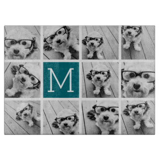Create Your Own Instagram Collage Custom Monogram Cutting Board