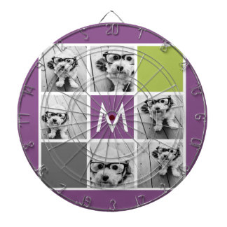 Create Your Own Instagram Collage Custom Monogram Dartboard With Darts