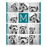 Create Your Own Instagram Collage Custom Monogram Flyer