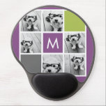 "Create Your Own Instagram Collage Custom Monogram Gel Mouse Pad<br><div class=""desc"">Featuring Radiant Orchid, Lime Green and Charcoal squares. You can use Instagram photos for this design. Use 6 square photos to create a unique and personal gift. Or you can keep the hipster puppy and make a trendy keepsake. If you need to adjust the pictures, click on the customize tool...</div>"