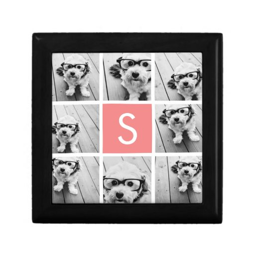 Create Your Own Instagram Collage Custom Monogram Jewelry Boxes