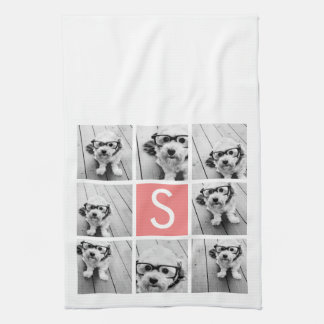 Create Your Own Instagram Collage Custom Monogram Hand Towel