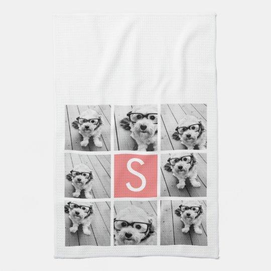 Create Your Own Instagram Collage Custom Monogram Hand Towel
