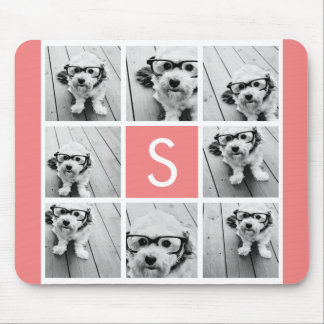 Create Your Own Instagram Collage Custom Monogram Mouse Pad
