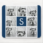 Create Your Own Instagram Collage Custom Monogram Mouse Pads
