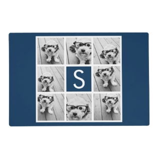 Create Your Own Instagram Collage Custom Monogram Placemat at Zazzle