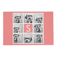 Create Your Own Instagram Collage Custom Monogram Placemat