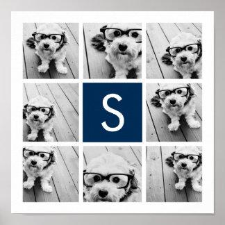 Create Your Own Instagram Collage Custom Monogram Poster
