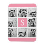 Create Your Own Instagram Collage Custom Monogram Vinyl Magnets