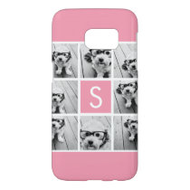 Create Your Own Instagram Collage Custom Monogram Samsung Galaxy S7 Case