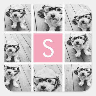 Create Your Own Instagram Collage Custom Monogram Sticker