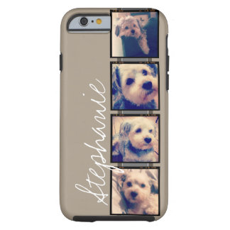 Create Your Own Instagram Collage - linen beige Tough iPhone 6 Case
