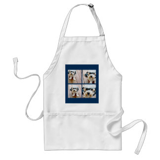 Create Your Own Instagram Collage Navy 4 Pictures Adult Apron