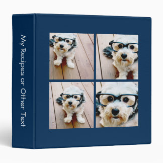Create Your Own Instagram Collage Navy 4 Pictures Binder