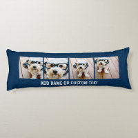 Create Your Own Instagram Collage Navy 4 Pictures Body Pillow