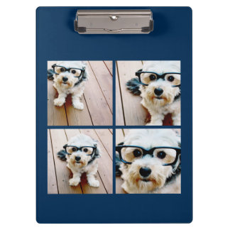 Create Your Own Instagram Collage Navy 4 Pictures Clipboard