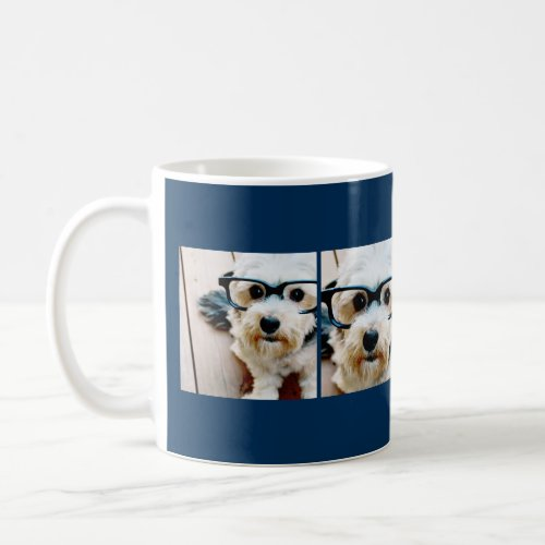 Create Your Own Instagram Collage Navy 4 Pictures Coffee Mug
