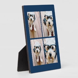 Create Your Own Instagram Collage Navy 4 Pictures Display Plaques