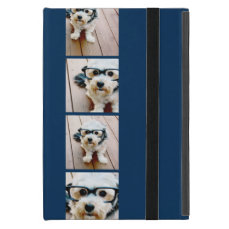 Create Your Own Instagram Collage Navy 4 Pictures iPad Mini Cover