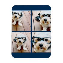 Create Your Own Instagram Collage Navy 4 Pictures Magnet