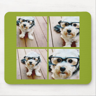 Create Your Own Instagram Collage Pistachio 4 pics Mouse Pad
