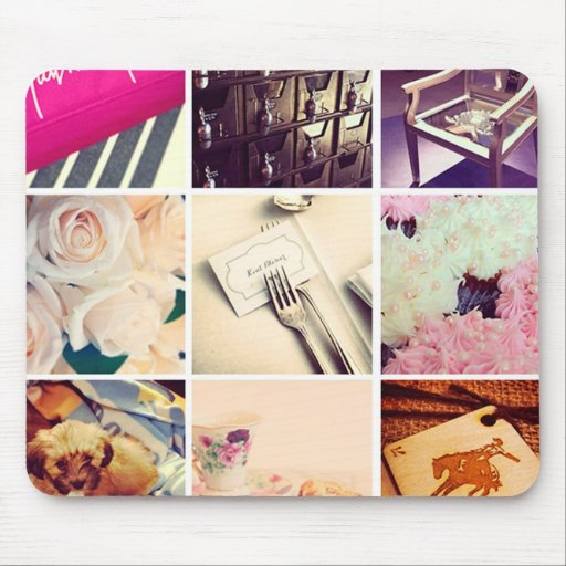 create your own instagram mouse pad zazzle. Black Bedroom Furniture Sets. Home Design Ideas