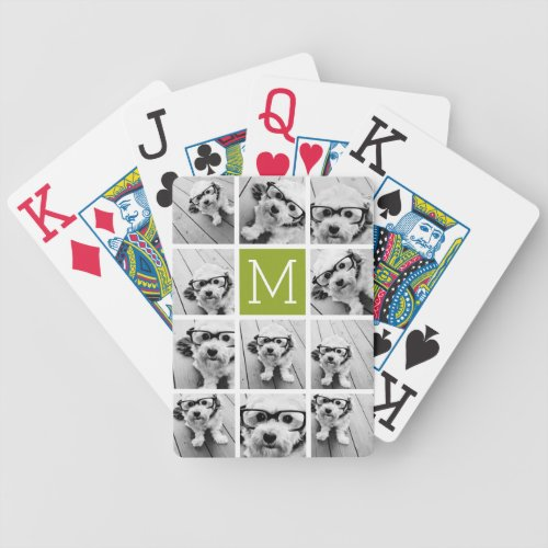Create Your Own Instagram Photo Collage Lime Bicycle Playing Cards