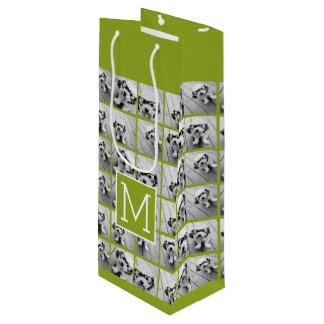 Create Your Own Instagram Photo Collage Lime Wine Gift Bag