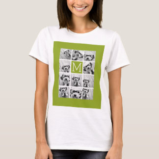 Create Your Own Instagram Photo Collage Lime T-Shirt