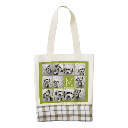 Create Your Own Instagram Photo Collage Lime Zazzle HEART Tote Bag
