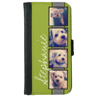 Create Your Own Instagram Photo Collage Wallet Phone Case For iPhone 6/6s