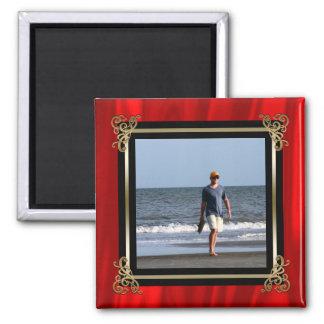 Create Your Own Instagram Photo | Elegant Red Silk Magnet
