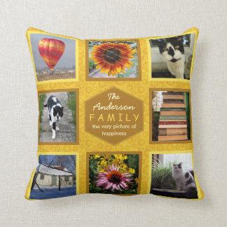 Create Your Own Instagram Photo Family Name Honey Throw Pillow