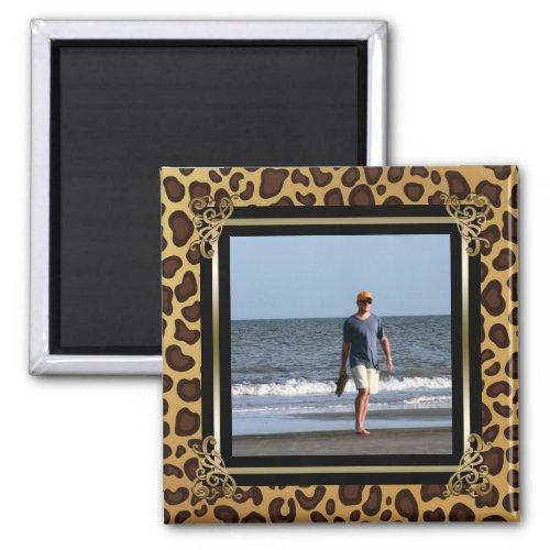 Create Your Own Instagram Photo  Leopard Spots Magnet