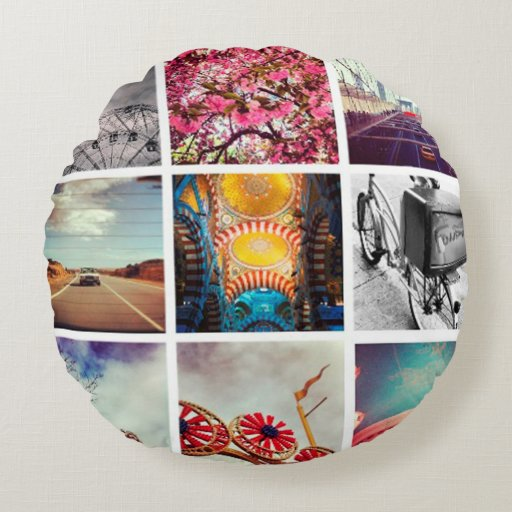 Create Your Own Instagram Round Pillow Zazzle