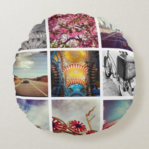 How To Make Round Decorative Pillow : Create Your Own Instagram Round Pillow Zazzle